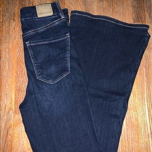 American Eagle Curvey Highest Rise Flare Jeans